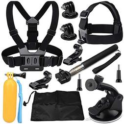 VVHOOY 9 in 1 Universal Action Camera Accessory Bundle Kit C