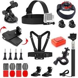 VVHOOY 24 in 1 Accessories Bundle Kit Compatible with Gopro