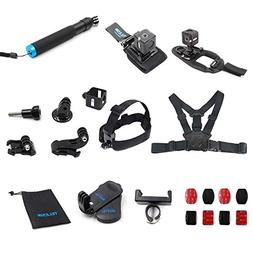 TELESIN 13-in-1 Mount Accessories Kit for Polaroid Cube and