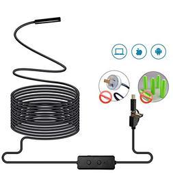 Ocamo 3 in 1 WIFI Endoscope Camera Mini Waterproof Hard Cabl