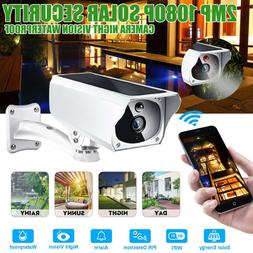 1080P 2MP Waterproof WIFI Solar Battery Security IP Camera W