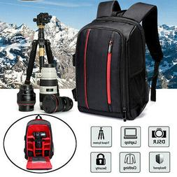 16'' Waterproof DSLR Camera Backpack Shoulder Bag Case For C