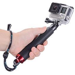 Vicdozia 19'' Waterproof Hand Grip Compact Selfie Stick Exte