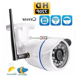 1x Wireless WIFI IP Camera 720P Onvif Outdoor Security Water