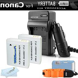 2 Pack Battery And Charger Kit For Canon PowerShot D30 D10 D