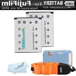 2 Pack Battery Kit for Fujifilm FinePix XP70, XP80, XP90, XP