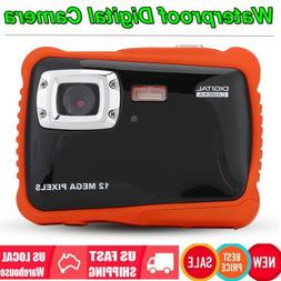 "2"" Screen Waterproof Camera Full HD 12MP 4x Digital Zoom Div"