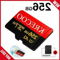 256GB Micro Memory Card 10 Fast 4K Class10 Flash TF Card wit