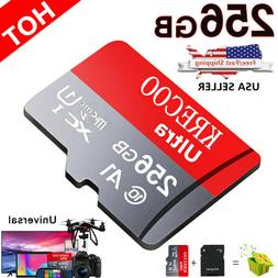 256GB Micro Memory Card Fast 4K Class10 Flash TF Card with A