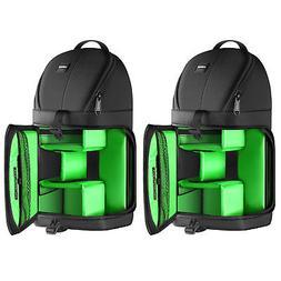 2pcs Black Waterproof Camera Case Sling Backpack for Cameras