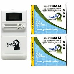 2x Battery & Universal Charger for Pentax WG-3