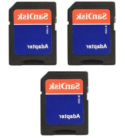3-Pack SanDisk MicroSD To SD Memory Card Adapter