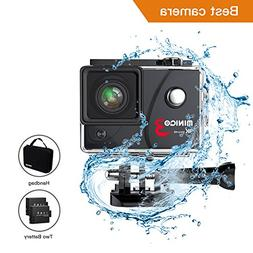 MINIGO Action camera 3 4K 16MP Sports action camera Waterpro
