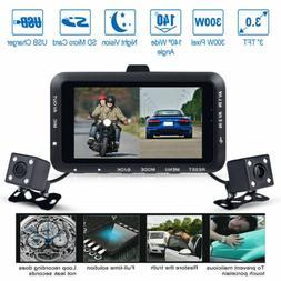 "3"" LCD Waterproof Motorcycle DVR HD Action Camera Dual Lens"