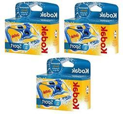 3 Kodak Underwater Disposable One Time Use Waterproof Sport