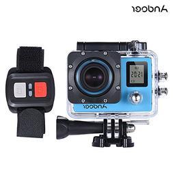 Andoer 4K 30fps/1080P 60fps Full HD 16MP Action Camera Water