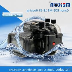 40M Waterproof Underwater Camera Housing Hard Case for Canon