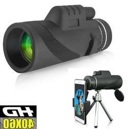 40X60 Zoom Optical HD Monocular Telescope Camera Lens + Trip