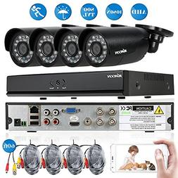 KKmoon 4ch Camera Security System 1080N CCTV Surveillance DV