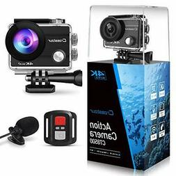 Crosstour 4K 16MP Action Camera Underwater Cam WiFi Remote C