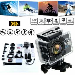 "4K 2"" Ultra HD 16MP Helm Action Camera Sports DV WiFi Cam 30"