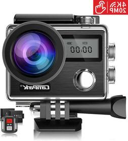 Campark 4K 20MP Action Camera Touching EIS 30M Waterproof Un