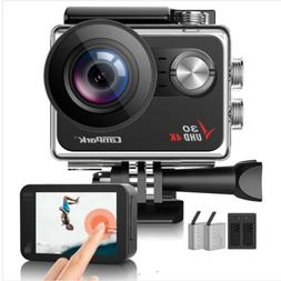 4K 30fps Action Camera WiFi 20MP Campark Sports Cam 30M Wate