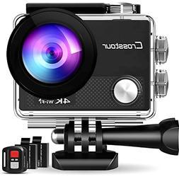 4K Action Camera 16MP WiFi 30M Waterproof Case 2 Batteries M
