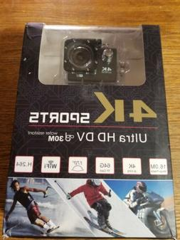 4K Action Camera, 16MP WIFI Ultra HD Underwater Waterproof 3