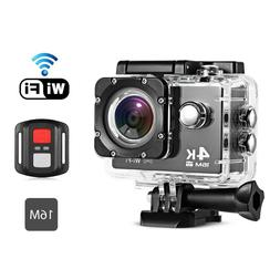 4K Action Camera 16mp Waterproof Remote Control for Sports