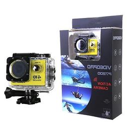 4K Ultra HD WIFI Waterproof Sports Camera 16MP 2 inch LCD Ye