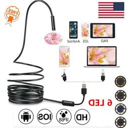 5 5mm usb endoscope borescope waterproof snake
