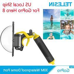 TELESIN 6'' Dome Port + Floaty Hand Grip Trigger 30M Waterpr