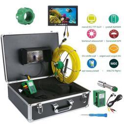 """7"""" LCD 30M Sewer Waterproof Camera Pipe Pipeline Drain Inspe"""