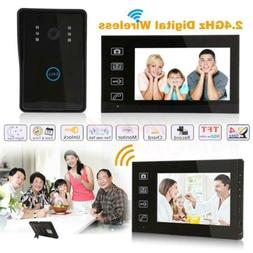 "7"" Waterproof design Wireless Video Door Phone Doorbell IR 1"