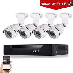 Tonton 8CH Full HD 1080P Security Camera System, Surveillanc