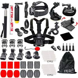 Black Pro Basic Common Outdoor Sports Kit for GoPro Hero 6 /