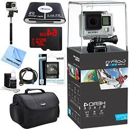 GoPro Hero 4 Black 4K Waterproof Action Camera Kit