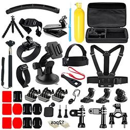 Iextreme 50 in 1 Action Camera Accessories Kit for GoPro Her
