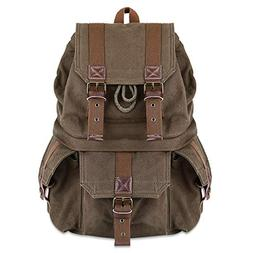 Kattee Military Style Canvas DSLR Camera Backpack Rucksack W