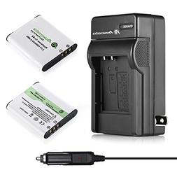 Powerextra 2X D-LI92 Battery & Charger Compatible with Olymp