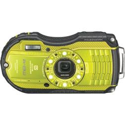 Ricoh WG-4 Lime Yellow 16Digital Camera with 4x Optical Imag