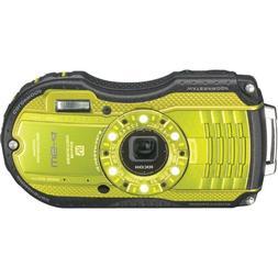 Ricoh WG-4 Lime Yellow 16Digital Camera with 4x Optical Imag