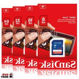 SanDisk SD 8GB 16GB 32GB CLASS 4 Flash Memory Card SDHC for