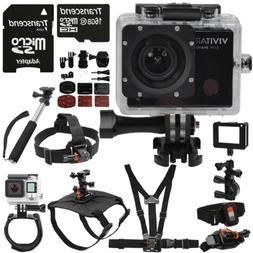 Vivitar DVR914HD Wi-Fi Waterproof Action Video Camera Camcor