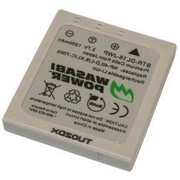 Wasabi Power Battery for Pentax D-LI8, D-LI85, D-L18 and Pen