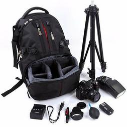 Waterproof Large Backpack Bag Case for Camera Lens DSLR Cano