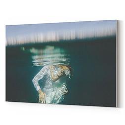 Westlake Art - Underwater Water - 5x7 Canvas Print Wall Art