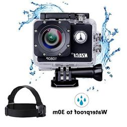 NZACE Action Camera 1080P, New A835 Ultra HD Waterproof 160