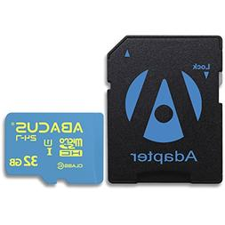 Abacus24-7 32GB microSD Memory Card with SD Adapter for HIKV